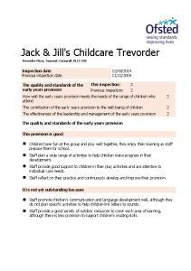 Jack & Jill's Childcare Trevorder