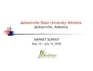 Jacksonville State University Athletics Jacksonville, Alabama