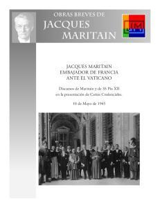 JACQUES MARITAIN EMBAJADOR DE FRANCIA ANTE EL VATICANO