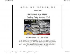 JAGUAR by AMR... By Gary Oxley Member No.1