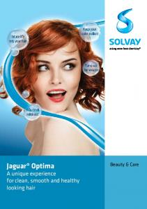 Jaguar Optima. A unique experience for clean, smooth and healthy looking hair. Beauty & Care