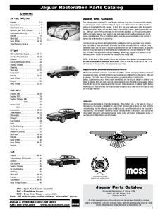 Jaguar Restoration Parts Catalog