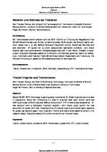 Jahrbuch Agrartechnik 2014 Traktoren Motoren und Getriebe bei Traktoren