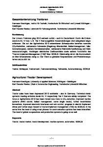 Jahrbuch Agrartechnik 2015 Traktoren Gesamtentwicklung Traktoren