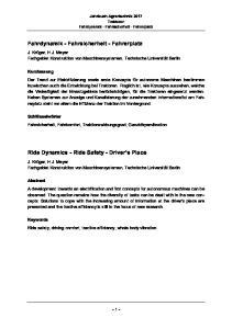Jahrbuch Agrartechnik 2017 Traktoren Fahrdynamik - Fahrsicherheit - Fahrerplatz