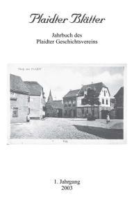 Jahrbuch des Plaidter Geschichtsvereins