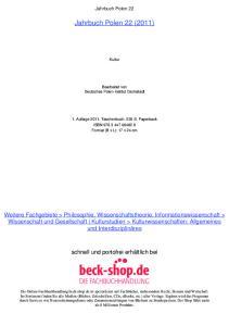 Jahrbuch Polen 22 (2011)