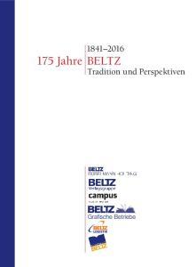 Jahre BELTZ. Tradition und Perspektiven