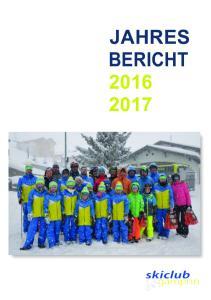 JAHRES BERICHT
