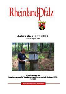 Jahresbericht 2002 Annual Report 2002