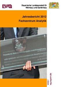 Jahresbericht 2012 Fachzentrum Analytik