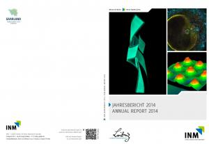 JAHRESBERICHT 2014 ANNUAL REPORT 2014