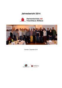 Jahresbericht 2014 Dornbirn, Dezember 2014