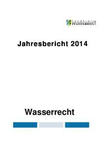 Jahresbericht 2014 Wasserrecht