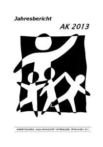 Jahresbericht AK 2013