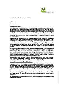 Jahresbericht der Verwaltung 2013