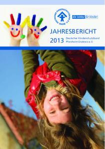 JAHRESBERICHT Deutscher Kinderschutzbund Pforzheim Enzkreis e.v