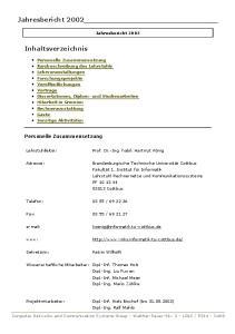 Jahresbericht Dipl.-Ing. Liu Fuwen Dipl.-Inf. Michael Meier Dipl.-Ing