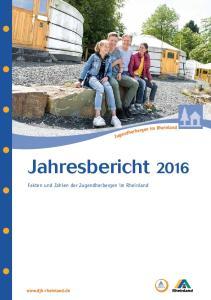Jahresbericht Fakten und Zahlen der Jugendherbergen im Rheinland