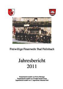 Jahresbericht Freiwillige Feuerwehr Bad Feilnbach