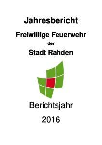 Jahresbericht Freiwillige Feuerwehr der Stadt Rahden