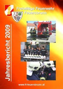 Jahresbericht Freiwillige Feuerwehr Feuersbrunn