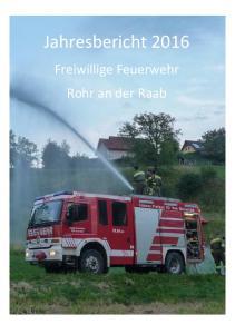 Jahresbericht Freiwillige Feuerwehr Rohr an der Raab