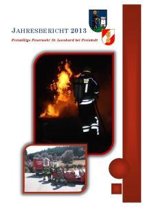 JAHRESBERICHT Freiwillige Feuerwehr St. Leonhard bei Freistadt