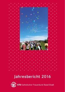 Jahresbericht KFB Katholischer Frauenbund Basel-Stadt