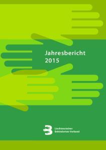 Jahresbericht Liechtensteiner Behinderten-Verband