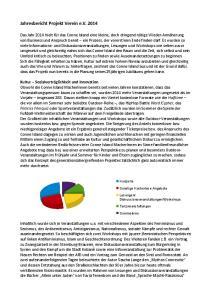 Jahresbericht Projekt Verein e.v. 2014