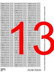 Jahresbericht Rapport annuel 2013