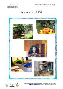 Jahresbericht Verein Kinderkrippe Auzelg