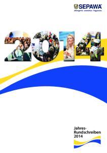 Jahresrundschreiben 2014 der SEPAWA