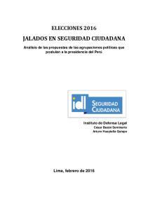 JALADOS EN SEGURIDAD CIUDADANA