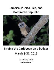 Jamaica, Puerto Rico, and Dominican Republic