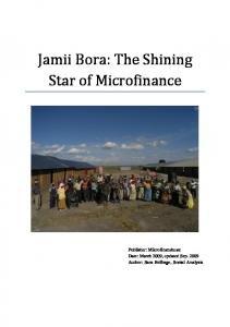 Jamii Bora: The Shining Star of Microfinance