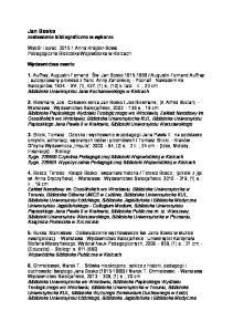 Jan Bosko zestawienie bibliograficzne w wyborze