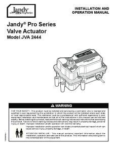 Jandy Pro Series Valve Actuator Model JVA 2444
