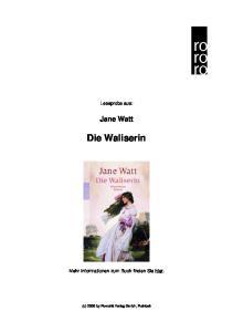 Jane Watt Die Waliserin