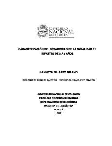 JANNETH SUAREZ BRAND