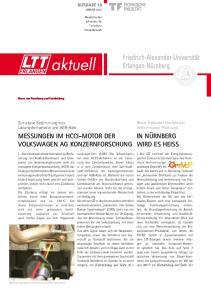 JANUAR Newsletter des Lehrstuhls für Technische Thermodynamik