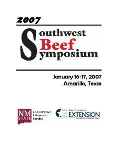 January 16-17, 2007 Amarillo, Texas