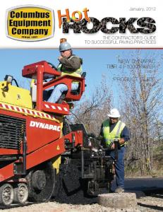 January, 2012 THE CONTRACTOR S GUIDE TO SUCCESSFUL PAVING PRACTICES NEW DYNAPAC TIER 4 F1000 PAVER. pg. 4 PRODUCT GUIDE. pg. 6