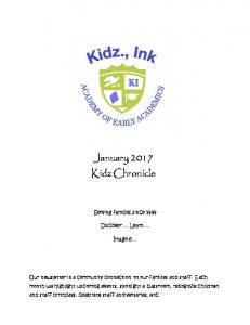 January 2017 Kidz Chronicle