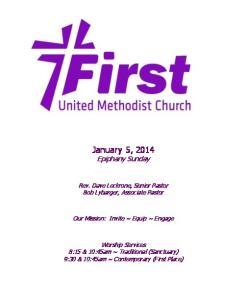January 5, 2014 Epiphany Sunday
