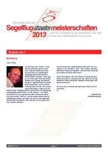 January Bulletin No.1. Einladung. Bulletin No.1 page 1. Liebe Piloten