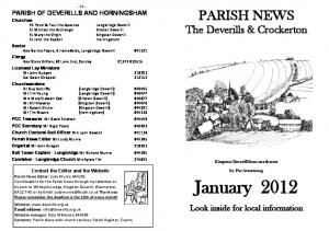 January Look inside for local information