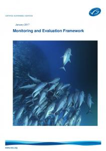 January Monitoring and Evaluation Framework