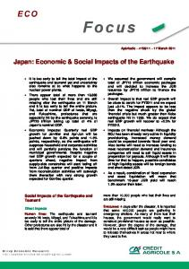 Japan: Economic & Social Impacts of the Earthquake